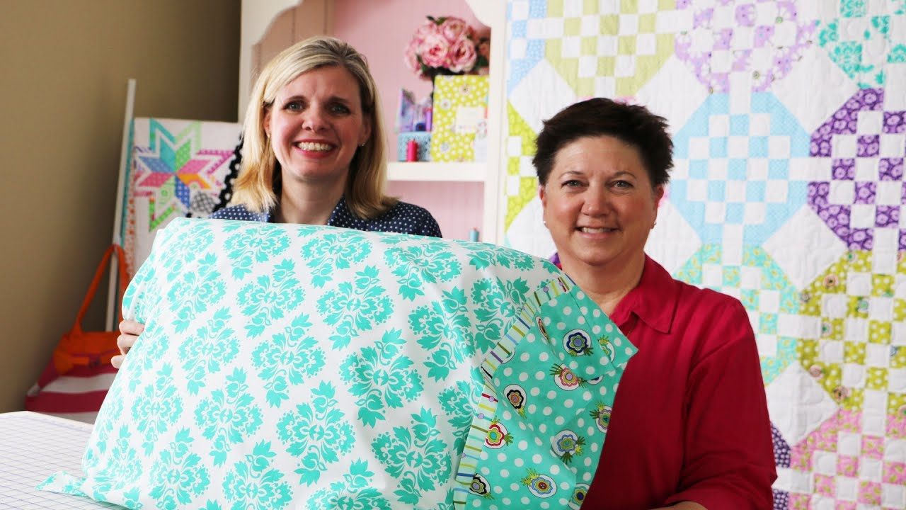 How to Make a Standard Pillowcase using Dilly Dally Pillowcase ...