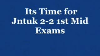 jntuk 2 2 1st mid online bits orginal 2015 for all branches