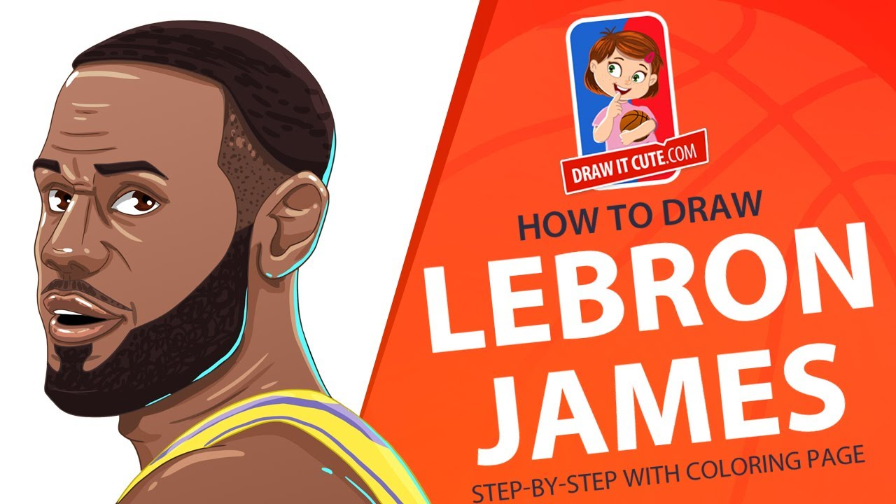 Lebron James How To Draw Nba Step By Step Guide With A Coloring Page Youtube