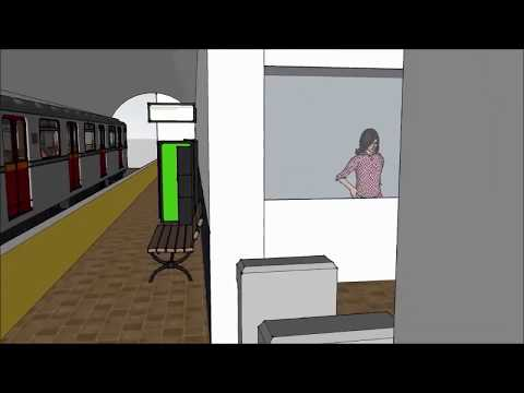Kinect Sign Language KIOSK at Station - Animation