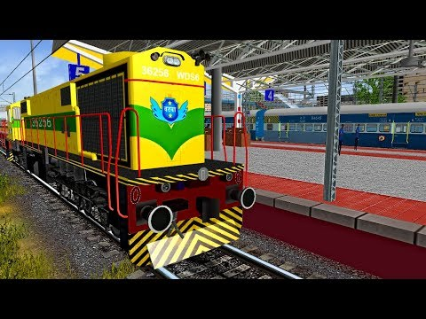 Shunting Indore Pune Express In Indore Junction    IR In MSTS Open Rail