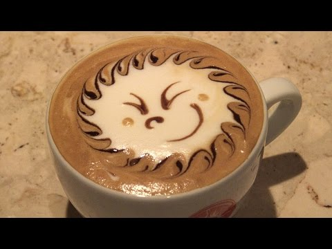 Design Cappuccino,Latte art(Sun) / デザインカプチーノ、ラテアート(太陽)