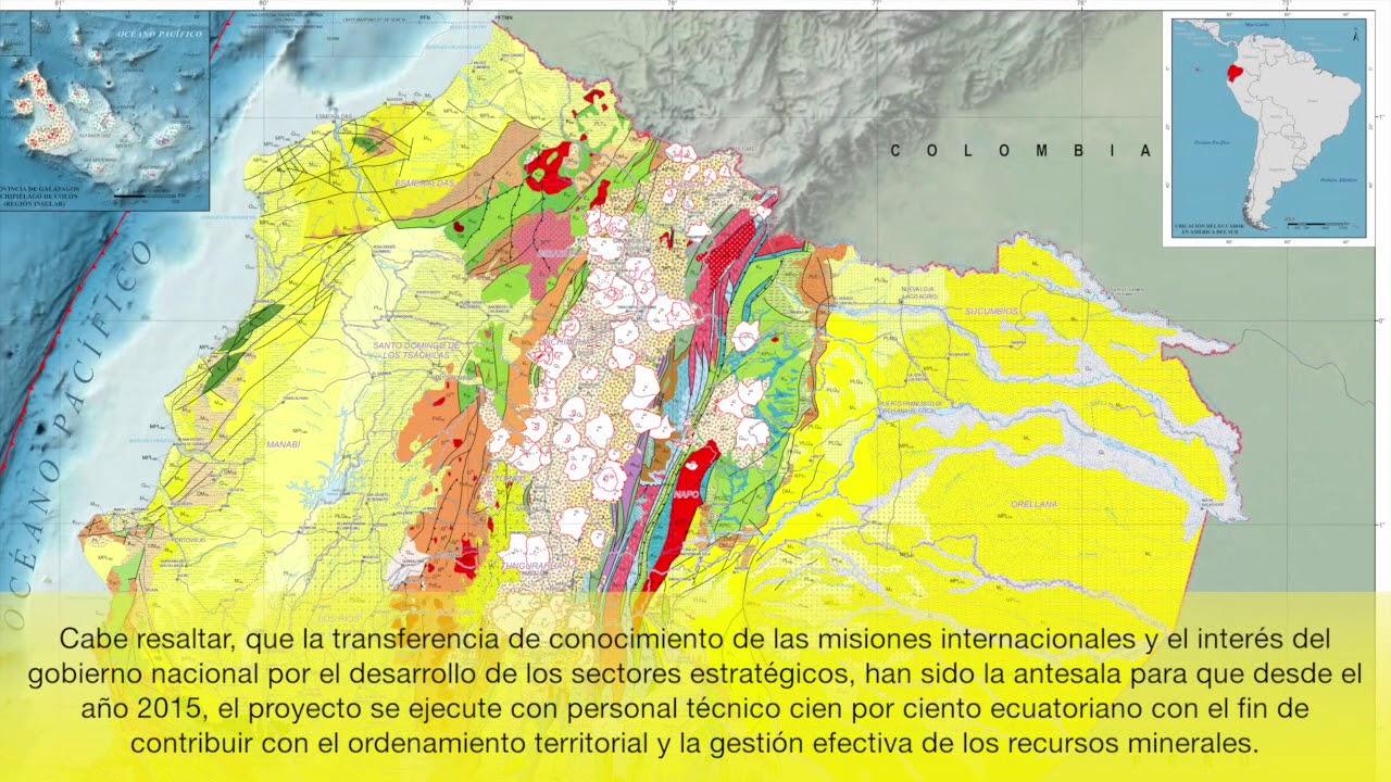 Inigemm Presentó Actualización Del Mapa Geológico Del Ecuador