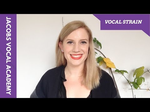 Why Am I Experiencing Vocal Strain - With Kimberley Smith