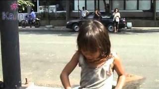 Gina, 7 jaar, straatkind in Manilla