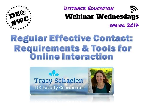 Regular Effective Contact: Requirements and Tools for Online Interaction