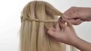Плетение косы водопад - урок из книги.