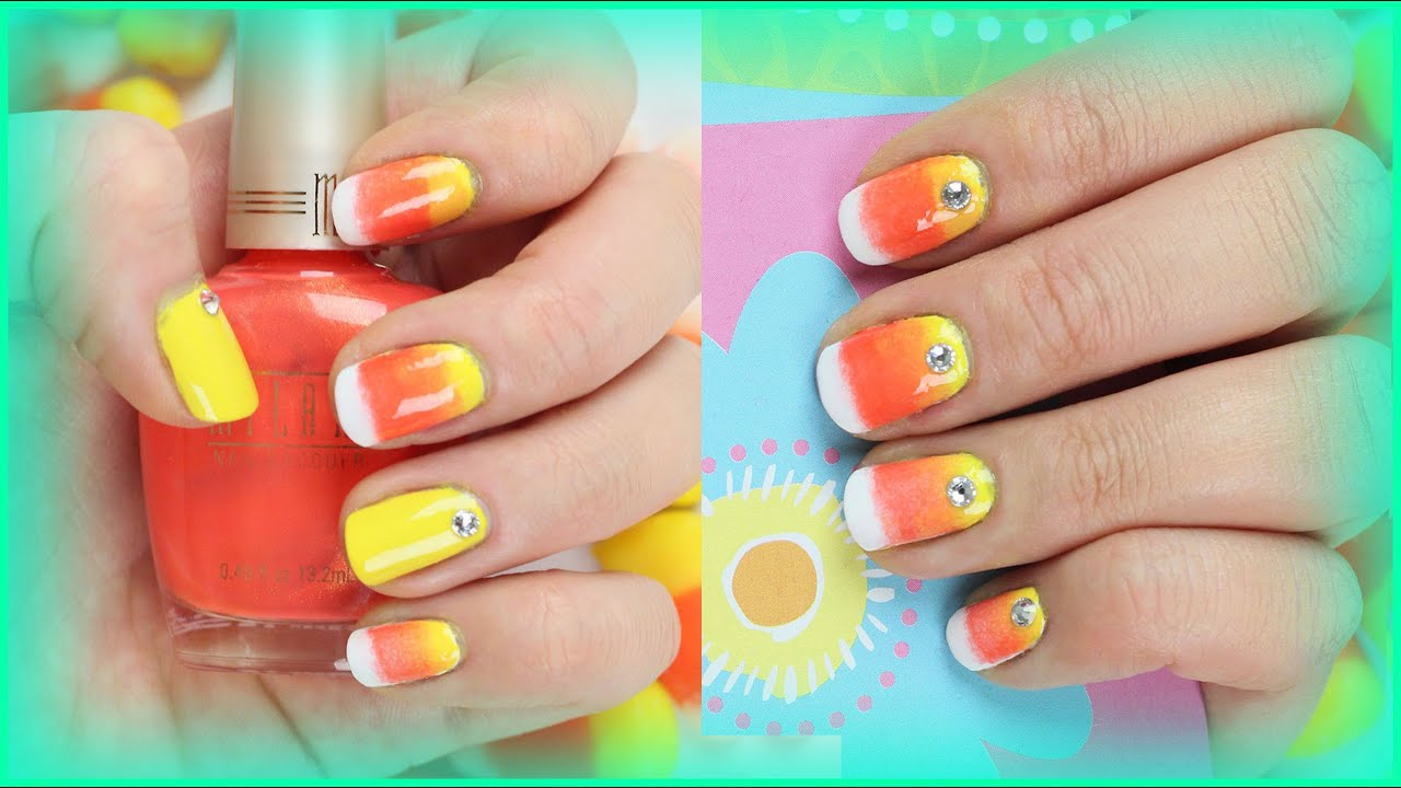 Cute Fall Halloween Nail Art Design For Short Nails Ombr Candy