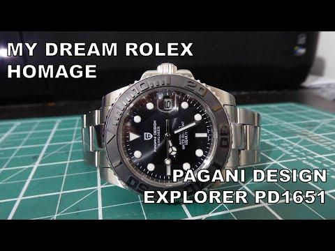 Rolex Yacht Master 40 Homage - Pagani Design Explorer PD1651