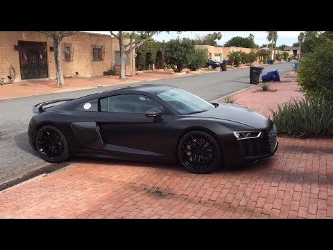 2017 Audi R8 V10 Plus Wrapped in Avery Dennison Satin Black Vinyl w/ Gawriluk Wraps