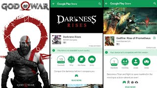 Dark Avenger 3 or Godfire Rise of Prometheus for Android | Like God of war Games on Android |