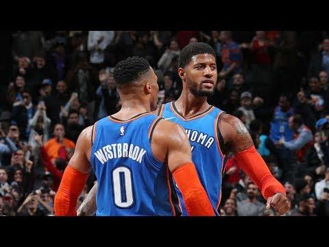 George, Westbrook Combine 68 Points vs Blazers! 2018-19 NBA Season