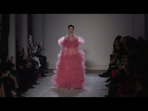 Models and Designer on the runway for the Giambattista Valli HC Fashion Show