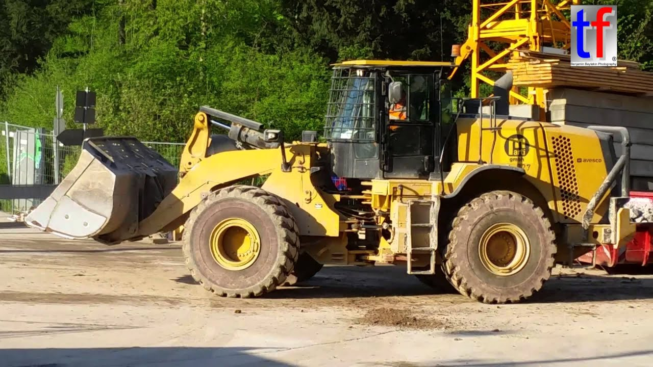 Caterpillar 972k loads man trucks marti b10 rosensteintunnel za wilhelma stuttgart 20 04 2015