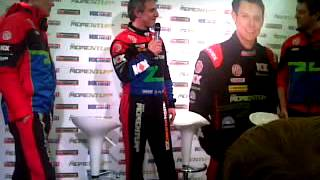 Q&A with Jason Plato and Andy Neate in Thruxton 2012