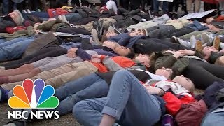 Students Conduct A 'Die-In' Outside Of White House To Protest Gun Violence | NBC News