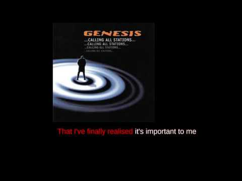 Genesis Calling All Stations - Karaoke version with realtime text