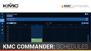 KMC Commander: Schedules