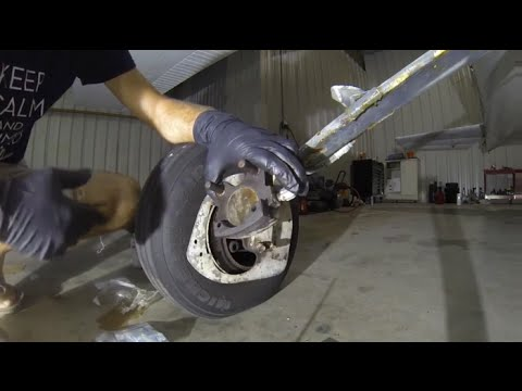 How To: Replace Cessna Brake Pads   Most small a/c brakes
