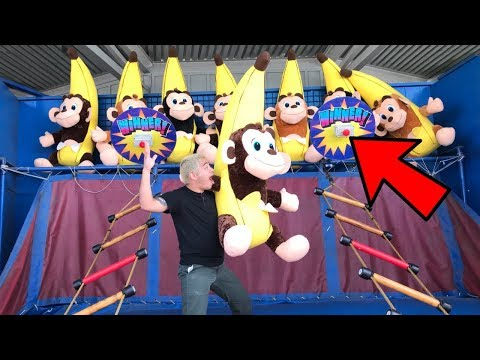HOW TO WIN THE IMPOSSIBLE LADDER CARNIVAL GAME | Knott's Berry Farm GIVEAWAY