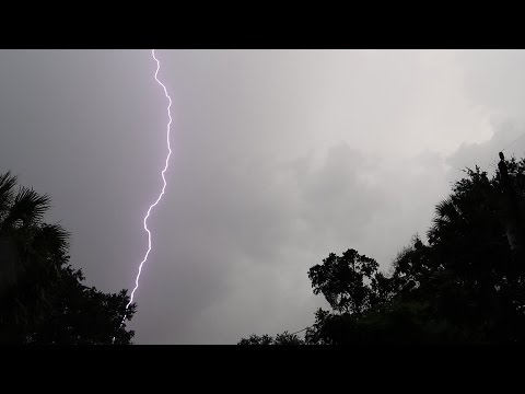Outside During A Crazy Florida Lightning And Thunder...