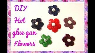 DIY Hot glue gun ideas/ How to make Hot glue gun Flowers at home/DIY Craft Queen❤ thumbnail