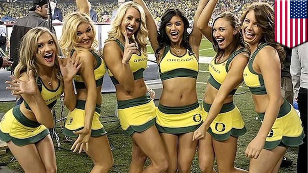 university of oregon cheerleaders are being called 'too hot'some