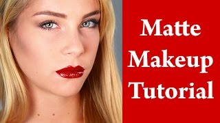 Matte Makeup Look Tutorial for Oily Skin - Kate Bosworth Thumbnail