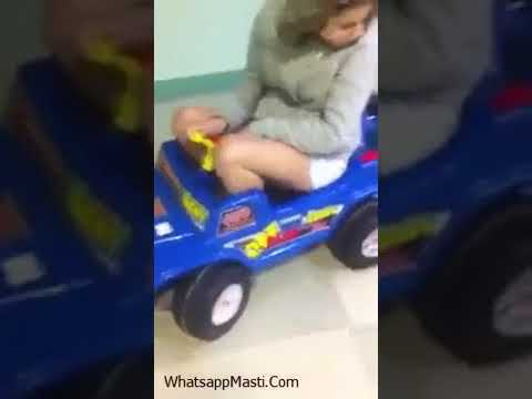 Girl Driveing Kids Car Funny Fail