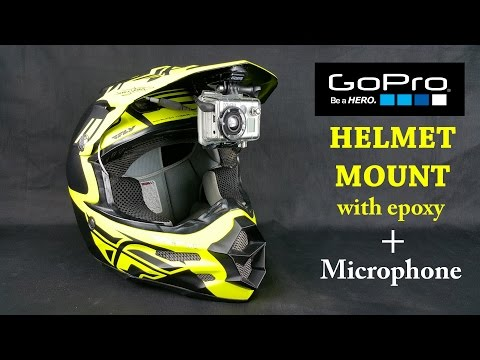 GoPro Epoxy Helmet Mount  - with Mic