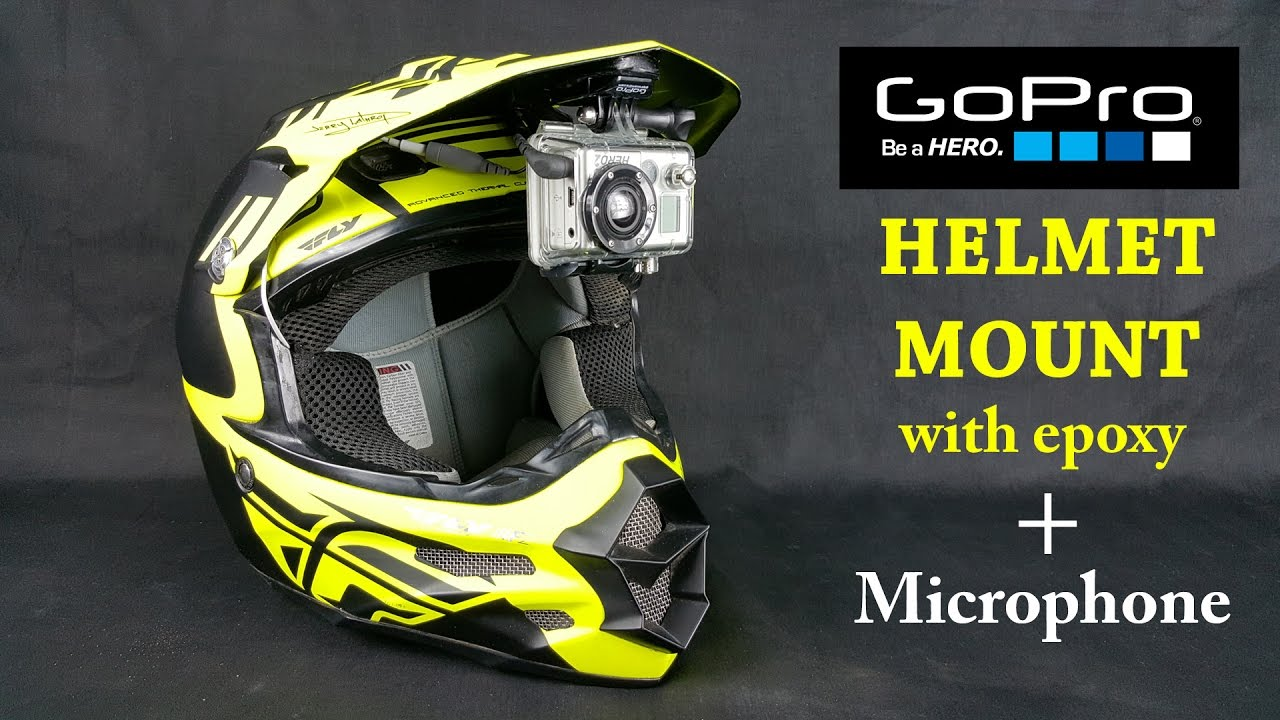 GoPro Epoxy Helmet Mount - with Mic