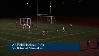 Acton Boxborough Varsity Field Hockey vs Belmont 11/11/15
