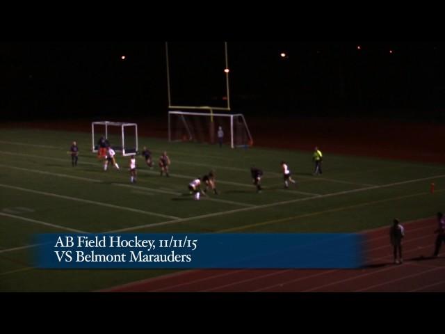 Acton Boxborough Varsity Field Hockey vs Belmont 11/11/15