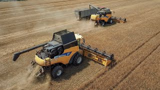 CNH Harvest - New Holland CR 9090, CX 8090, Case IH Puma CVX 225 + Fliegl ASW 393