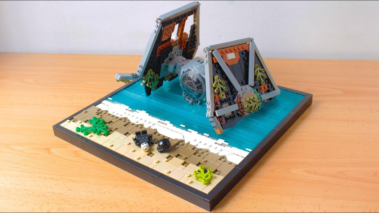 LEGO Star Wars Crashed TIE Fighter MOC