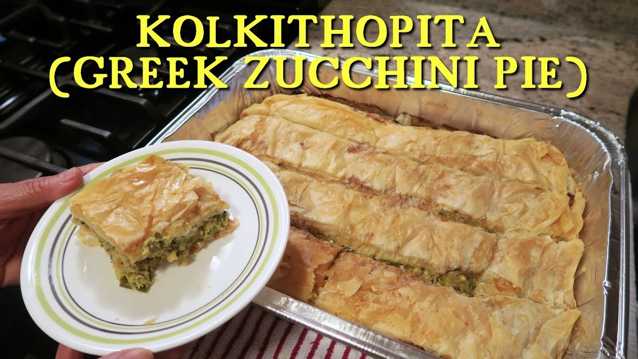 kolokithopita greek zucchini pie