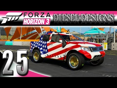 Forza Horizon 3 Gameplay :EP25: Olympic Ford Ranger T6 Rally Raid & Wheelspins!  (HD PC Racing)