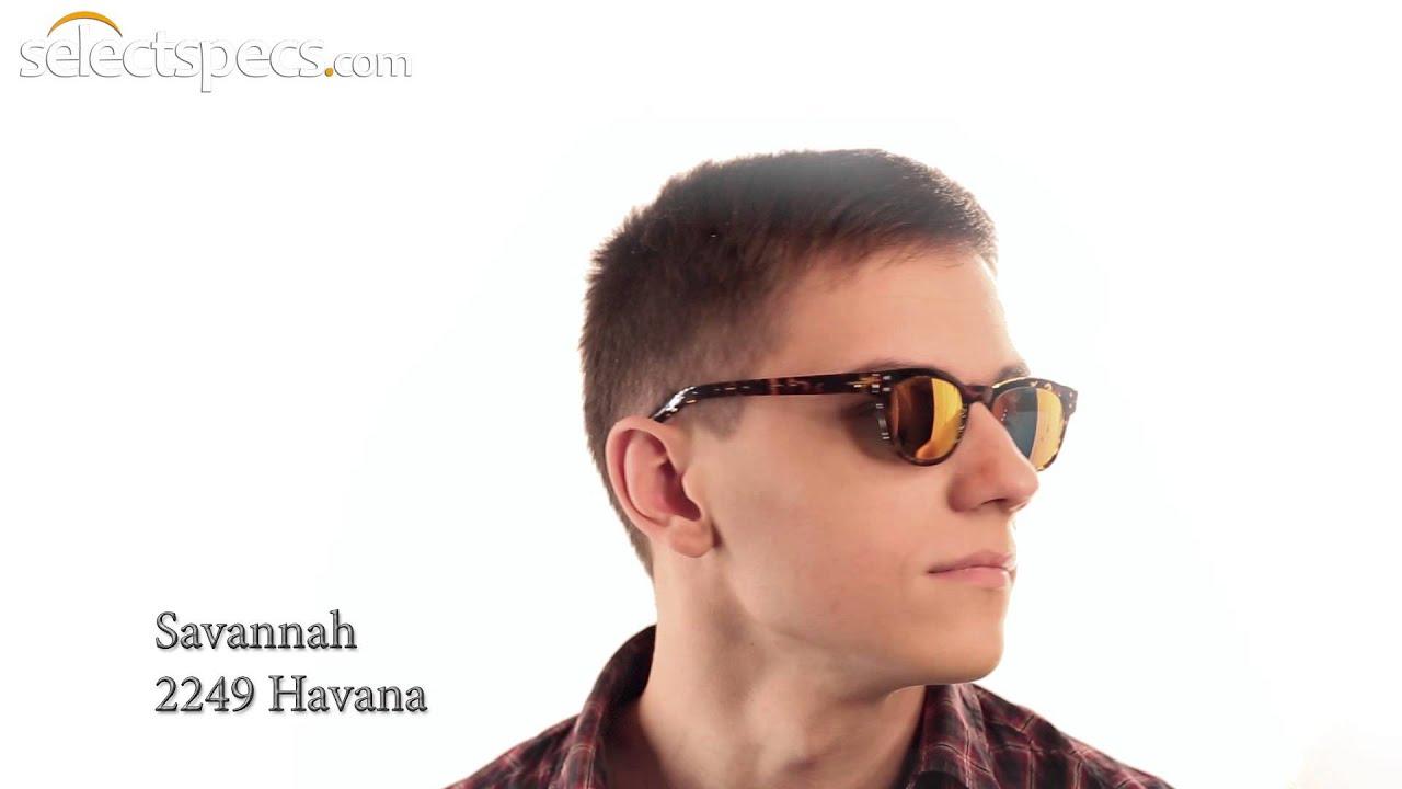 d1ddde4a59e0 Wayfarer-style Mirrored Sunglasses for Men - Savannah 2249 (Havana ...