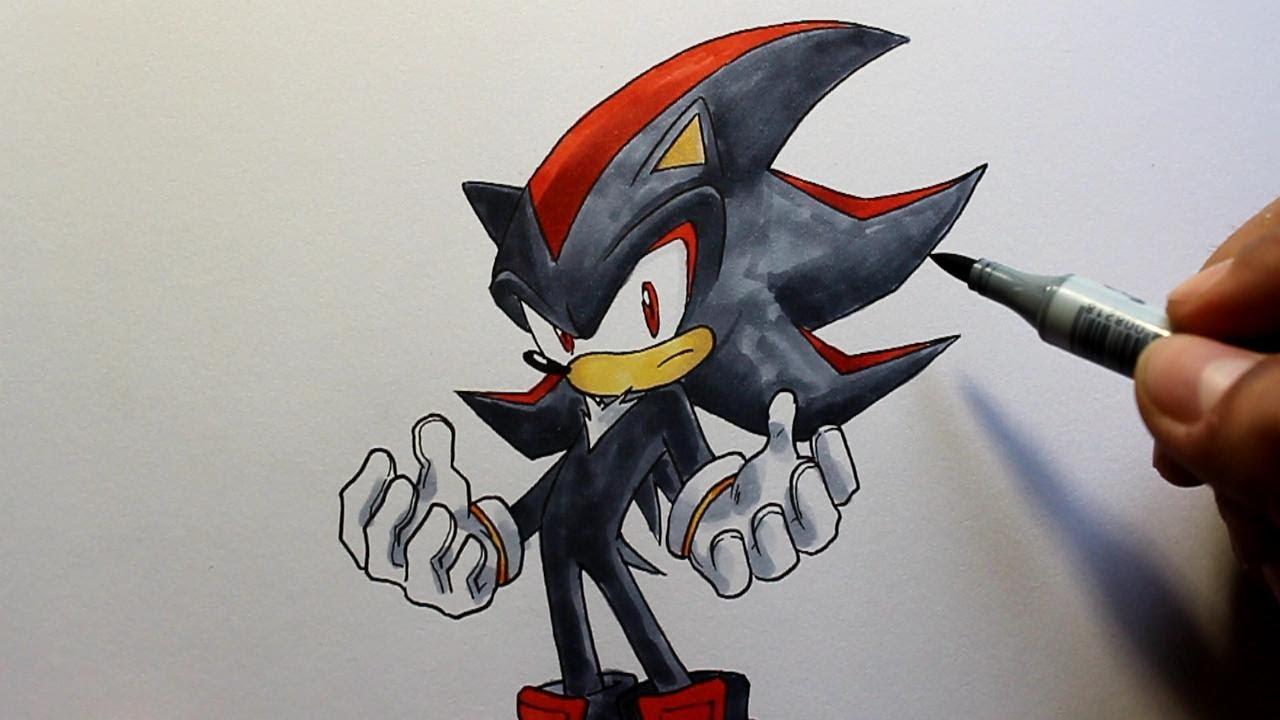 Wie Zeichnet Man Shadow Sonic The Hedgehog Zeichen Tutorial Youtube