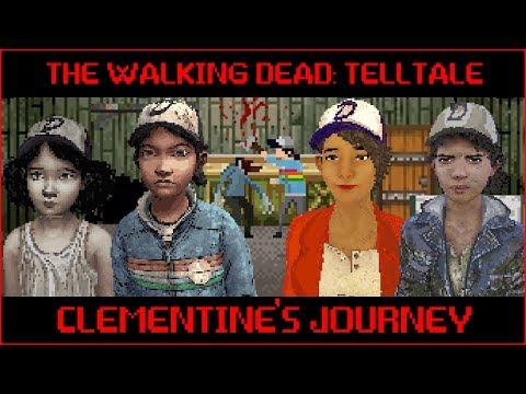 An 8-Bit Recap Of Clementine's Journey In Telltale's The Walking Dead!