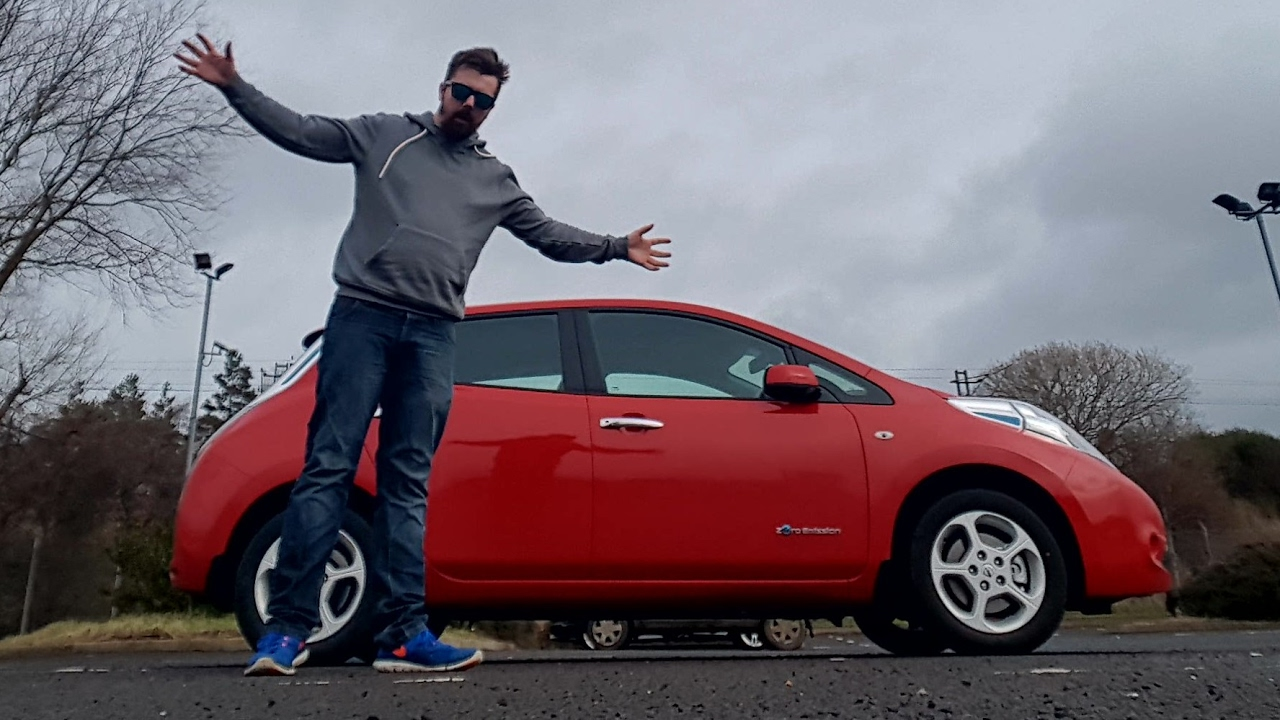 With An Electric Car Nissan Leaf Youtube