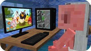 Bebe Aenh juega Angry Birds en Minecraft - Minecraft