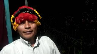Shiwiar Indigenous President signs the Nature Nations Declaration of Independence