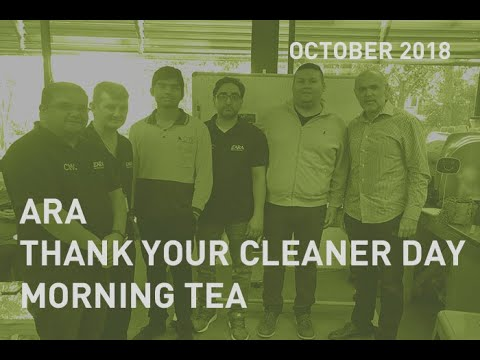 Thank your Cleaner Day Morning Tea 2018
