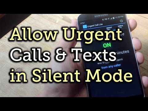 Allow Only Urgent Calls & Texts When In Silent Mode - Android [How-To]