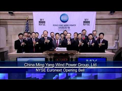 1 October 2010 China Ming Yang Wind Power Group Ltd. Lists IPO on the NYSE