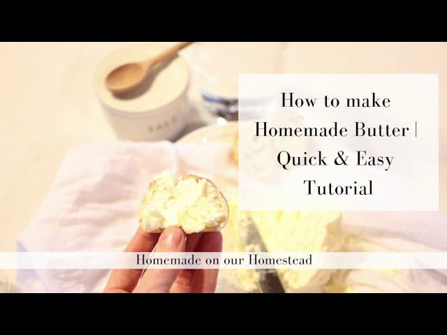 How to make your own butter | HOW TO MAKE HOMEMADE BUTTER | How to make butter at home