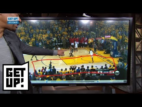 Jalen Rose shows how Andre Iguodala's absence affected Warriors in Game 4 loss | Get Up! | ESPN