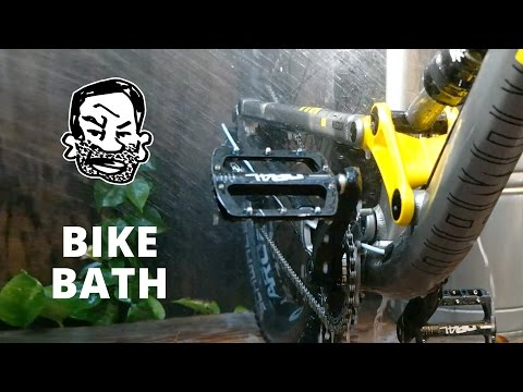 How I wash my mountain bikes