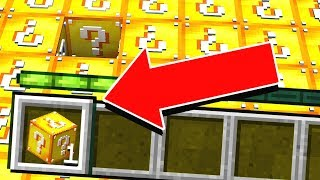 PLAYING MINECRAFT WITH ONLY 1 LUCKY BLOCK... (impossible?)